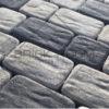 Тротуарная плитка Рундстоун «Белый и Черный» микс рельефный