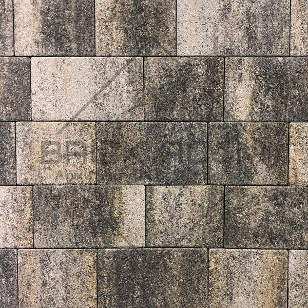 Тротуарная плитка Квадро «Оникс» гранит