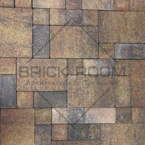 Тротуарная плитка Платцстоун «Листопад» гранит микс