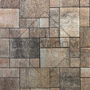 Тротуарная плитка Платцстоун «Либерика» гранит микс