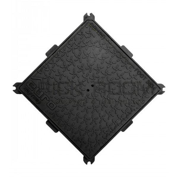 Люк чугунный квадратный 600х600