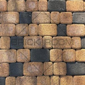 Тротуарная плитка Рундстоун «Листопад и Черный» микс рельефный