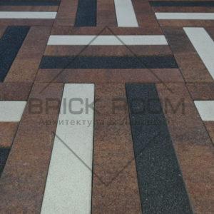 Тротуарная плитка Паркет «Шанти микс» 600*120 мм