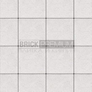 "Тротуарная плитка ""Платцстоун"" 300*300 мм. мрамор, цвет Белый Кристалл"